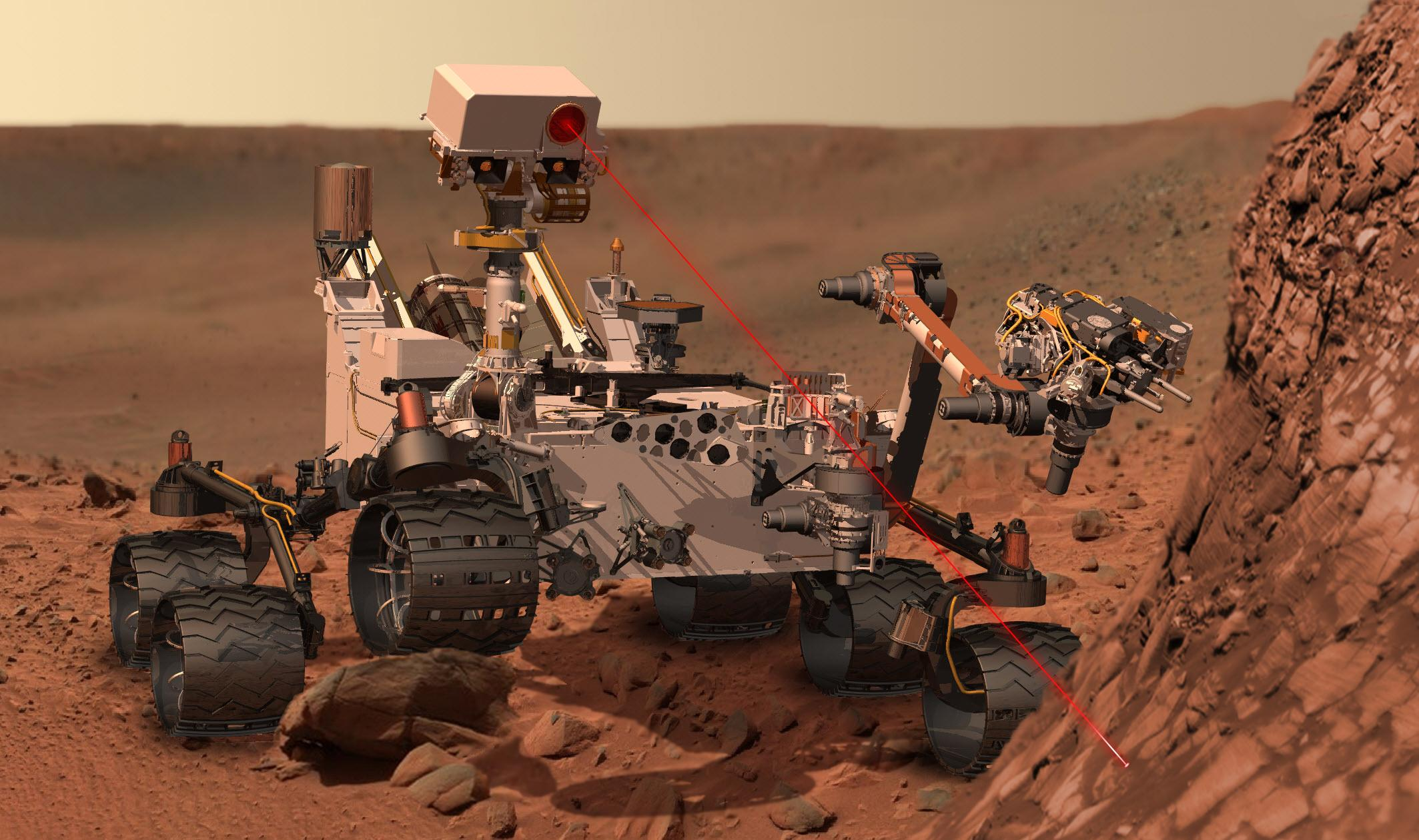 Martian rover Curiosity using ChemCam Msl20111115 PIA14760 MSL PIcture 3 br2